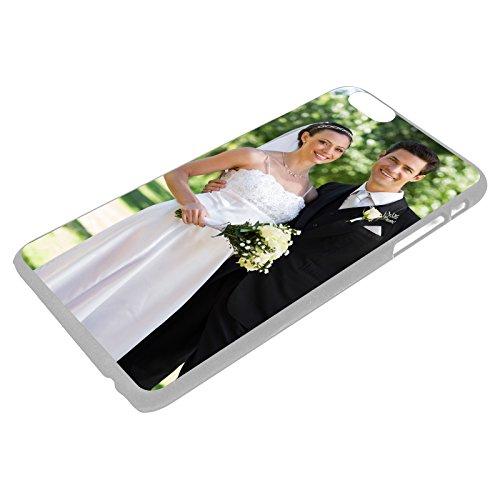 PixiPrints Premium Handyhülle selbst gestalten mit eigenem Foto und Text * Bild Schutzhülle, Hüllentyp: Hardcase/Transparent, Kompatibel mit Apple iPhone 6 / 6S
