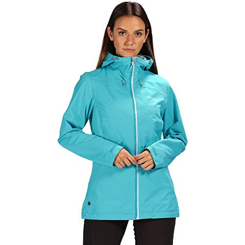 Regatta Hamara II Waterproof and Breathable Mesh Lined Hooded Outdoor Active Chaqueta, Mujer