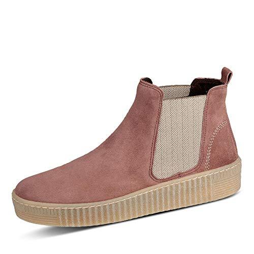 Gabor Damen Stiefeletten, Frauen Chelsea Boots,Best Fitting,Optifit- Wechselfußbett, Bootie Schlupfstiefel flach,pastellrose(Natur),40 EU / 6.5 UK