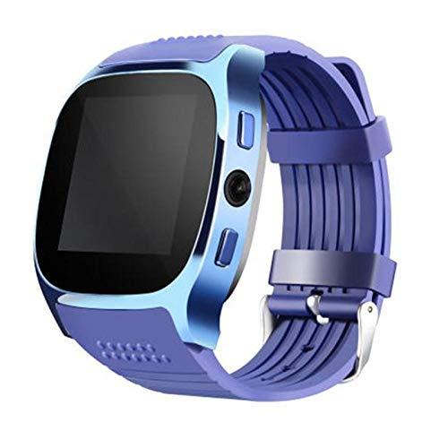 LXF JIAJU Reloj De Pulsera Bluetooth Multi Idiomas Soporte SIM TF Card 2MP Monitor DE SUEÑO PEDÓMETRO PEDÓMETRO A Prueba De Agua Smart Watch (Color : Blue)