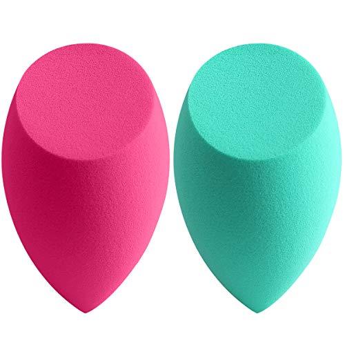 amoore 2 spugnette per il trucco applicatore per BB cream correttore e fondotinta liquido (2 spugnette senza lattice)
