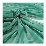 Stoff am Stück Stoff Polyester Changeant Chiffon türkis