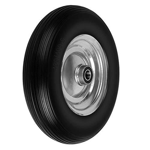 Forever Speed Vollgummi Reifen Schubkarren Reifen PU Stahlfelge ?390mm /4.00-8 25mm Gummirad Schwarz