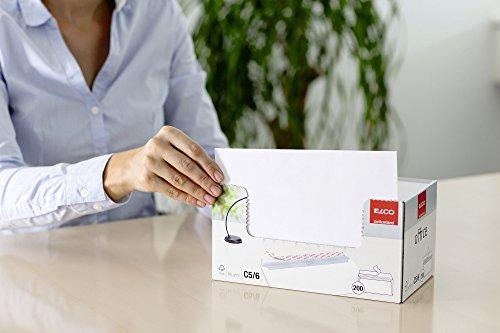 ELCO Office Umschlag DIN lang 80 g/m² FSC-zertifiziert mit Haftverschluss in Shop-Box 200 Stück weiß