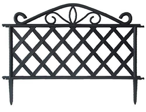 GIARDINI DEL RE Steccato ABS, Nero, 47x36x2 cm