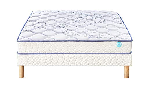 Ensemble Matelas 100% Latex Merinos SCOPIT Confort Morphologique 19 cm 90x190