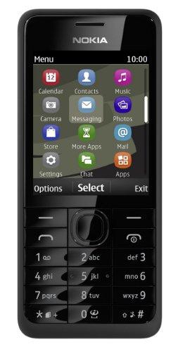 Nokia 301 - Teléfono móvil libre, color negro (importado)