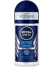 Nivea Men Active Protect Deo Roll-On (50 ml), anti-transpirant roller voor een fris huidgevoel, deodorant met 48 uur bescherming