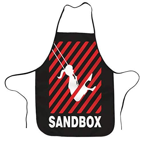 Logo Start-Up Sandbox Kdrama Delantal de cocina impermeable Chef babero delantal ajustable para hombres y mujeres