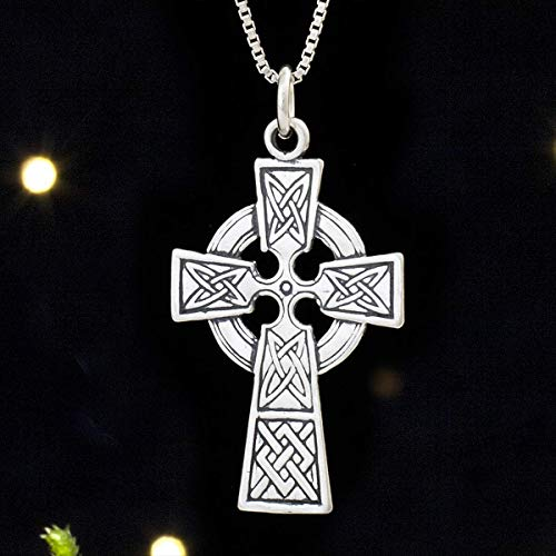 Sterling Silver Celtic Cross - (Pendant Only or Necklace)