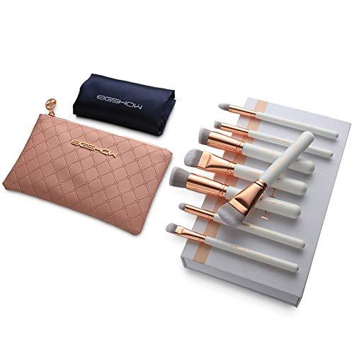 Pinceau de maquillage GCX- 8 pièces Set, Pinceau Fond de Teint, Soft, maquilleuse Professionnelle, Outils de Maquillage avancées, Un Ensemble Complet Beau (Color : Rose Gold)