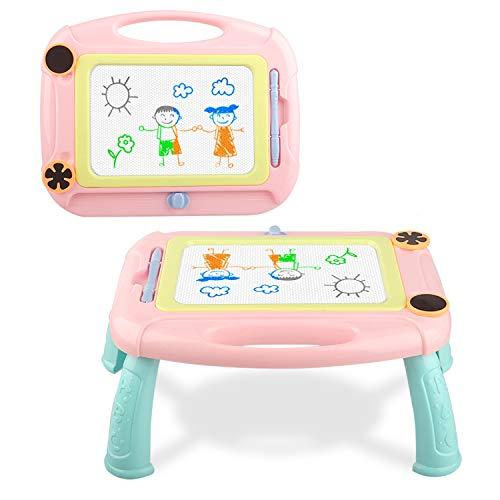 Snailrun - Tabla magnética para Dibujar, diseño de Magna para niños de 1 a 3 años, Incluye 1 bolígrafo y 2 Sellos, Rosa