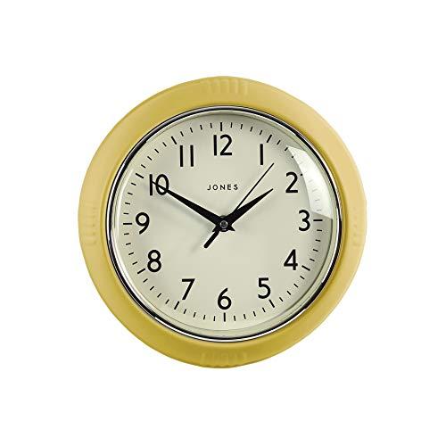 JONES CLOCKS® Retro Wall Clock Perfect For Kitchen Home Bedroom Office, The Ketchup Clock 25Cm