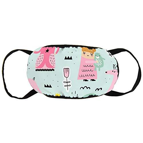 Stofvervuilingsmasker, Kleine Prinses, Zwart Oor Pure Katoen masker, Geschikt voor Mannen en Damesmaskers