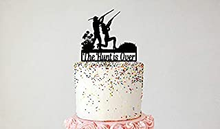 Hunting Couple Cake Topper, Pheasant Hunting, Bird Hunting, Duck Hunting. Personalized with your name or phrase.