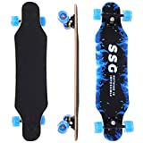 Pubota Complete Skateboard Cruising, Carving, Free-Style and Downhill Longboards Multilayer Maple (B-31inch)