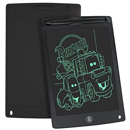 WOBEECO Tavoletta Grafica LCD Scrittura, 8.5 Pollici Lavagna da Disegno Digitale con Pulsante di Cancellazione e Blocco, Educazione e Apprendimento Giocattoli, Regali per Bambini (Nero)