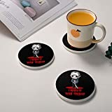 Jason Voorhees Funny Horror Humor I Wish It was Friday Serial Killer Diatomite Cup Coaster Absorbent Coasters for Drinks, Bars, Coffee Table Decor, House Or Living Room Decor 4 Inches