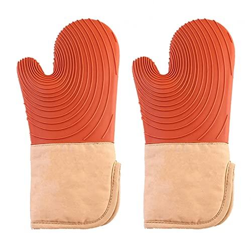 2 unids sin deslizamiento de silicona guantes para hornear resistente al calor espesando horno guante microondas olla soportes ola textura horno mitones cocina herramientas de cocina