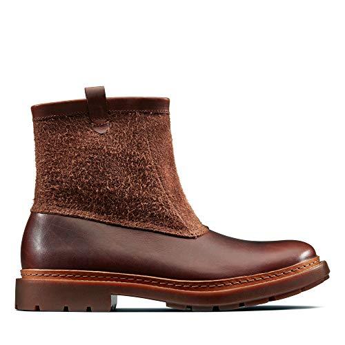 Clarks Trace Top, Botas Slouch para Hombre, Marrón (Mahogany Leather), 40 EU