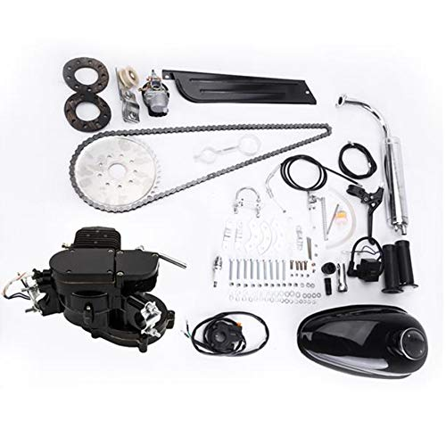 Rends 80cc 2-Stroke High Power Engine Bike Motor Kit Cycle Gas Engine Motor Fit for 24' 26' & 28' Bicycle Scooter Road Bikes,Cruisers, Choppers 80cc Black