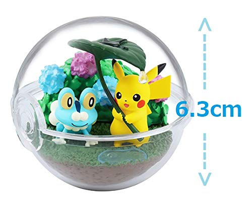 Rement Pokemon Pokeball Terrarium Figure Four Seasons~Pikachu Froakie Summer Rainy Season
