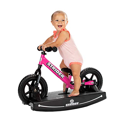 Strider Sport 2-in-1 Rocking Bike, for Ages 6 Months to 5 Years, Pink