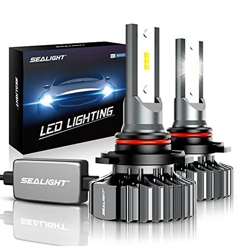 SEALIGHT Scoparc 9005/HB3 LED Bulbs, Plug and Play Conversion Kit, 6000K Bright White, Halogen Replacement, Quick Installation, Pack of...
