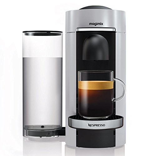Magimix 11386 Nespresso Vertuo Kaffeemaschine, Schwarz, Silber