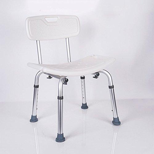 QX IAIZI Silla de Ducha Ajustable con Respaldo - Silla de bañera con Brazos for discapacitados, discapacitados, Adultos Mayores