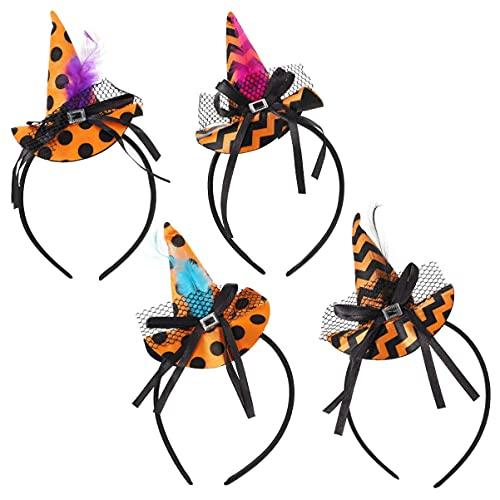 Élasticité Halloween chapeau cheveux hoop hoop chapeau de sorcière de sorcière bandeau cosplay costume accessoires de citrouille de citrouille compatible avec les femmes enfants enfants Halloween Part
