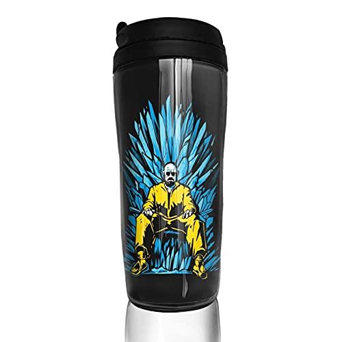 Breaking Bad Game Thrones Taza de café reutilizable aislada taza de viaje para bebidas calientes frías y calientes té y cerveza