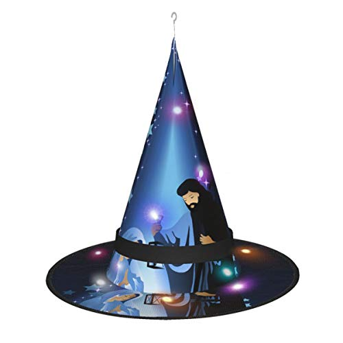 Christmas Nativity Scene Halloween Decorations Witch Hat, Outdoor Witches Hat, Hanging Lighted Glowing Witch Hat Decorations, Halloween Witches Hat Decor for Indoor, Outdoorees, Yard, Party
