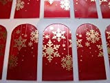 Miss Silver Christmas Red and Gold Snowflake Nail Art Foil Wraps for fingers and toes ideal Valentines gift
