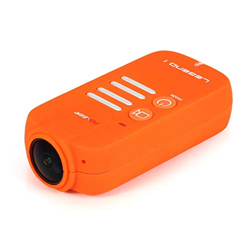 Ballylelly-Foxeer Legend 1 1080P 60fps 16MP 166 ° FOV Weitwinkel-HD-Action-Sportkamera NTSC / PAL Objektivtasche-Cam für FPV RC Racing Drohne (Orange)