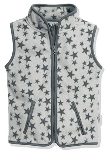 Playshoes Kinder Fleeceweste Allover Sterne Weste, Grau, 92