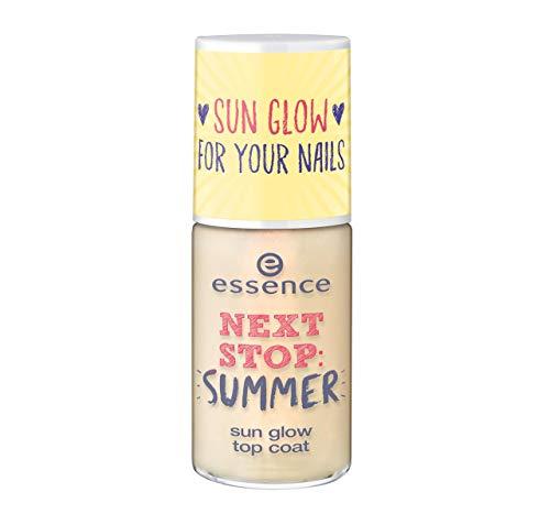 Essence Next Stop Summer zonneglow topcoat nr. 01 be someone's zonshine vandaag nog! Inhoud: 8 ml overlak voor nagels zoals door de zon gekost. Nagellak.