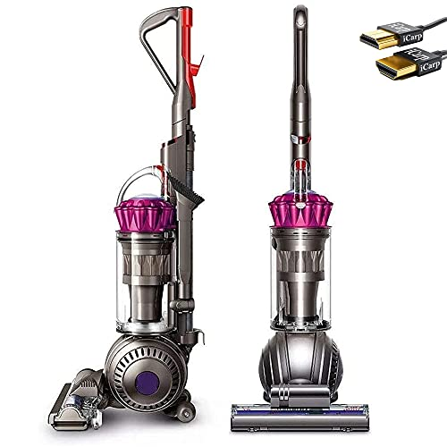 Dyson Ball Multi Floor Origin Vacuum Cleaner: High Performance, HEPA Filter, Upright, Bagless, Height Adjustment, Telescopic Handle, Self Propelled, Rotating Brushes, Fuchsia + iCarp HDMI Cable