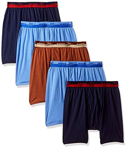 Rupa Jon Men's Solid Trunks (Pack of 5) (RJNJNRTDROP500 and Print May Vary_90 cm)