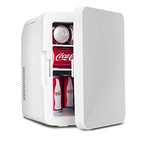 Fullwatt 2 in 1 Mini Kühlschrank, 10 Liter mit Kühl- und Heizfunktion, tragbare elektrische Gefrierbox klein Gefrierschrank für Auto, camping, Lkw, Büro, 220V Steckdose und 12V USB-Anschluss,Silber