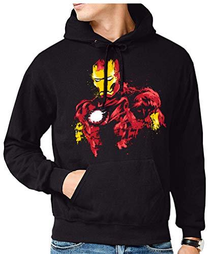 The Fan Tee Sudadera de Hombre Iron Man Los Vengadores Hulk Stark Industries 002 3XL