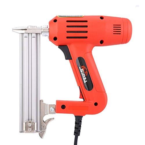 Pistola de clavos eléctrica, clavadora de encuadre de mano, carpintería para manualidades de carpintería, uso doméstico(pink)
