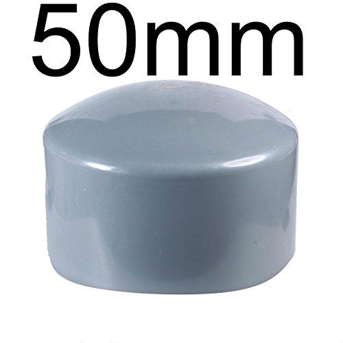 PVC Rohr und Rohrverbinder Ø 50 mm Winkel Kniestück Muffen T-Stück Kappen Fittings (Endkappe)