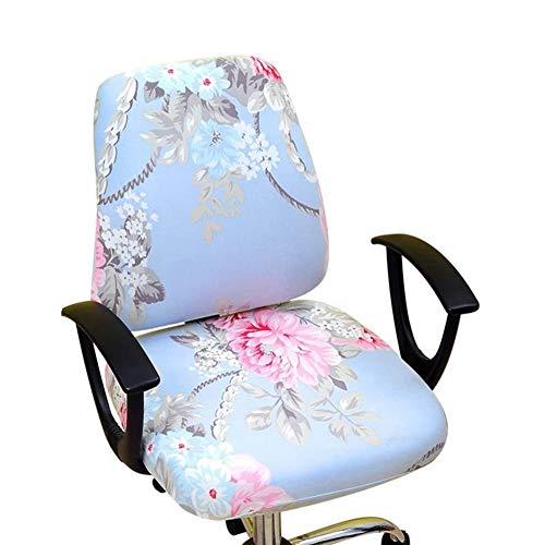 myonly Bürostuhl-Bezug für Drehstuhl, Computerstuhl, drehbarer Schreibtischschutz, abnehmbar, dehnbar, kreatives Muster, elastisch (ohne Stuhl)