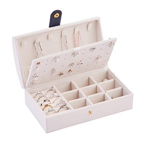 xiaofeng214 Caja de joyería portátil con Cierre de Tuerca, Organizador de Anillos, Caja de Almacenamiento de Maquillaje, contenedor de Belleza, Collar, Regalo de cumpleaños (Color : 08)