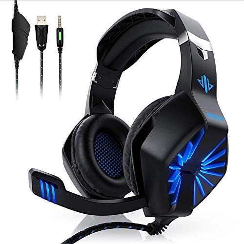 Best Sellerled Light Stereo Phone Gaming Headphone Player Wired Game Headset for PS4
