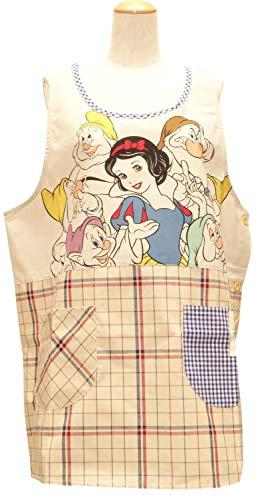 白雪姫と7人の小人 大きいサイズ LL〜3L サイドボタン キャラクター エプロン ディズニー ベージュ 51807102be 保育士エプロン