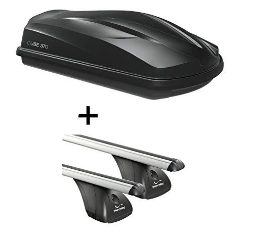VDP Dakkoffer/bagagebox CUBE370 + imperiaal origineel compatibel met Mercedes CLA Shooting Brake 5-deurs vanaf 2015