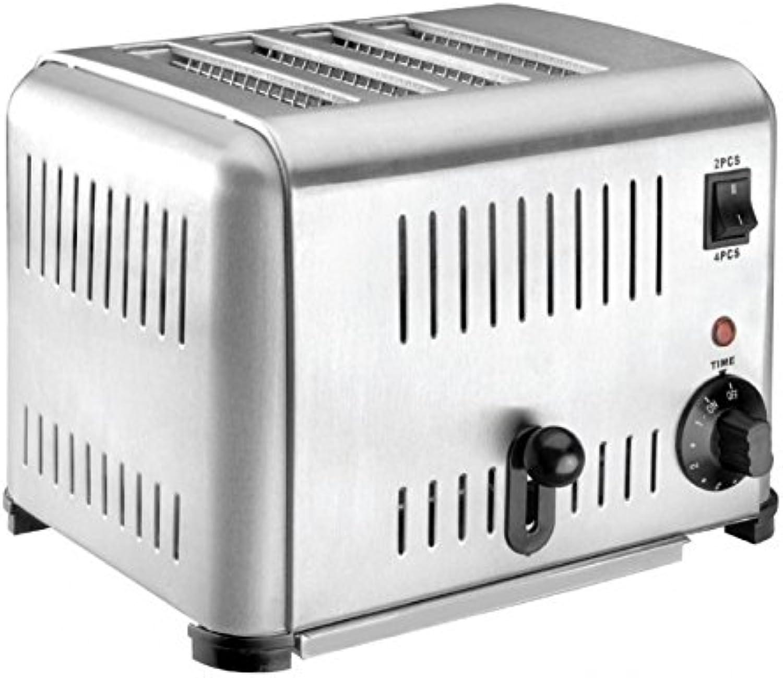 Haute Qualité gastronomie Grille-Pain en acier inoxydable besonder robuste 4disques 2240W