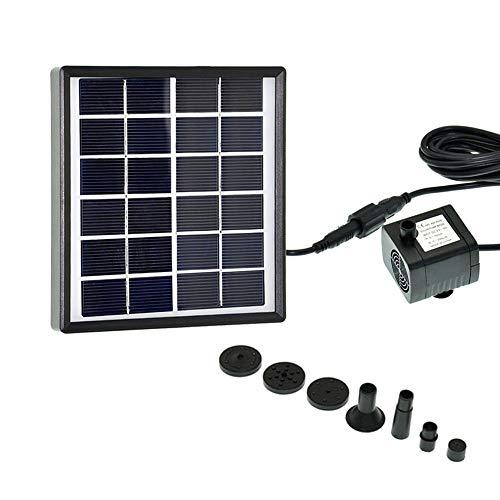 Lancoon Bomba De Fuente Solar para Pájaros 1.5W, Kit De Bomba De...